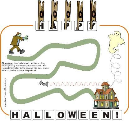 Halloween Clothes Pin Activity