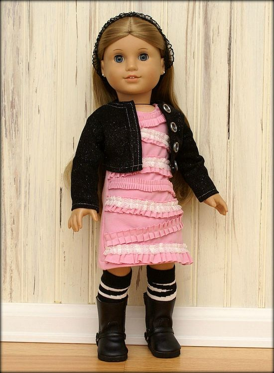 Bubblegum Ruffles American Girl Doll Outfit