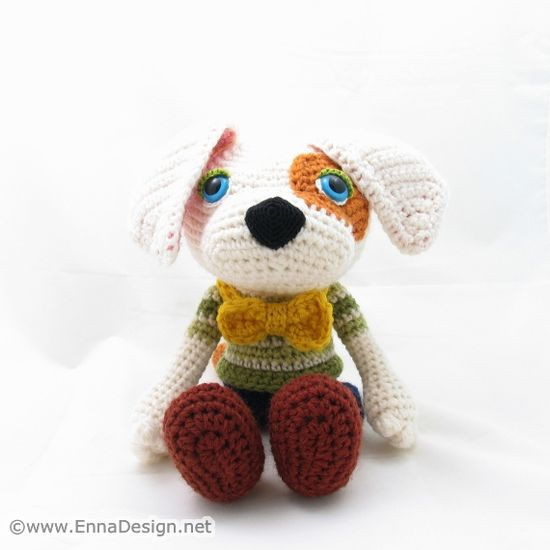 """Crochet Amigurumi Dog Art Doll by enna design,"" #Amigurumi  #crochet"