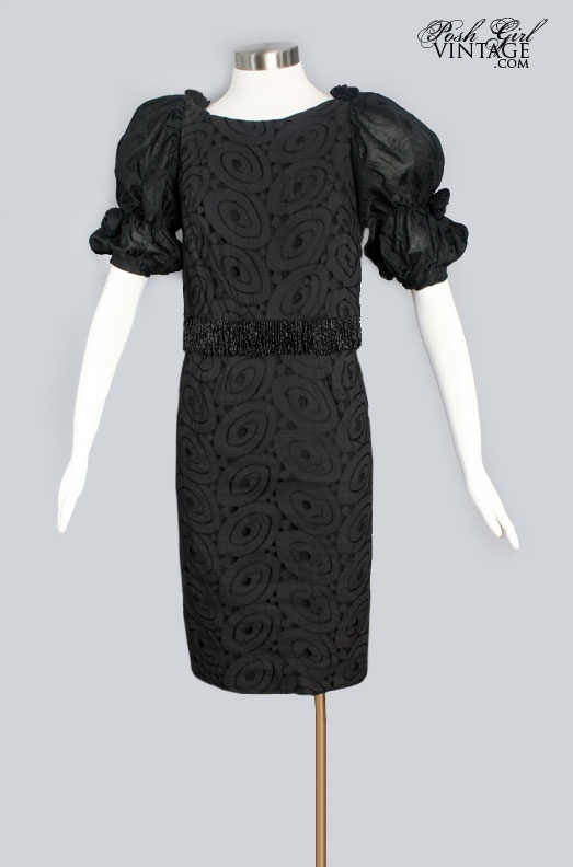 1960's Little Black Dress By Ann Arnold