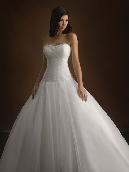 Tulle Ball Gown Scoop Sleeveless Wedding Dress