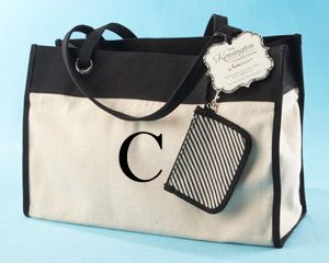 """""""Kensington"""" Personalized Reversible Tote with Wristlet -Getting this"""