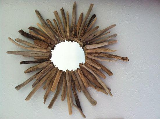 Driftwood Sunburst Mirror by DriftinAlong on Etsy