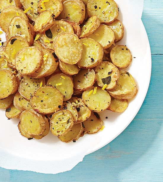 Potato Rounds with Fresh Lemon - Clean Eating - Clean Eating