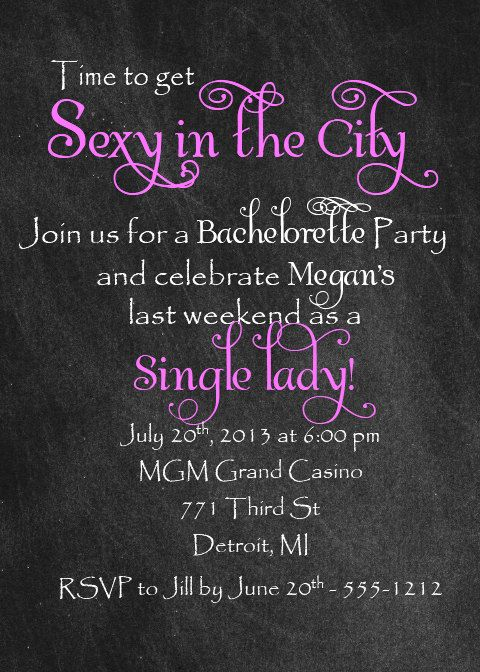 bachelorette party invite - print on your own- digital print