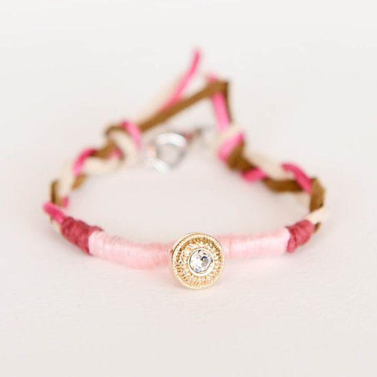 $12.00 pink friendship bracelet