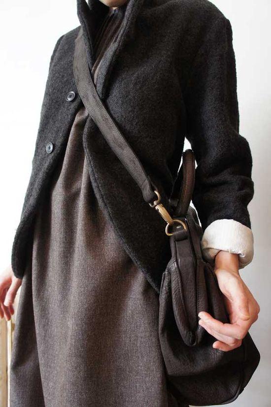 l'ecume des jours, klasica shrunk herringbone jacket