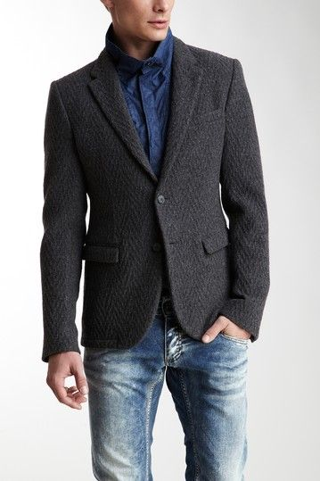 Emporio Armani Two-Button Wool Blend Jacket
