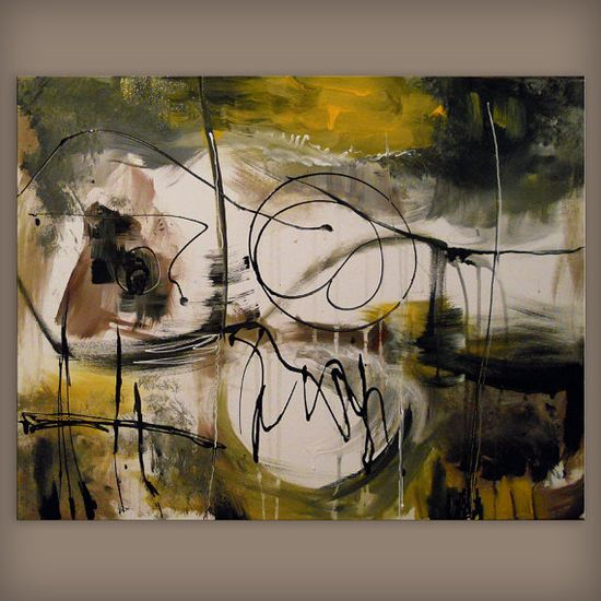 art painting abstract earth tone modern painting black by mattsart