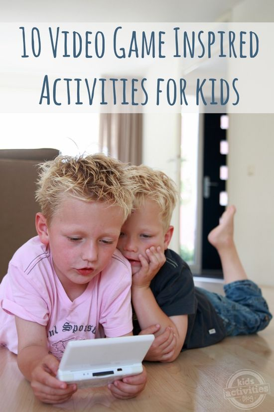 10 Video Game Inspired Activities for Kids - I love the Angry Birds video!!!