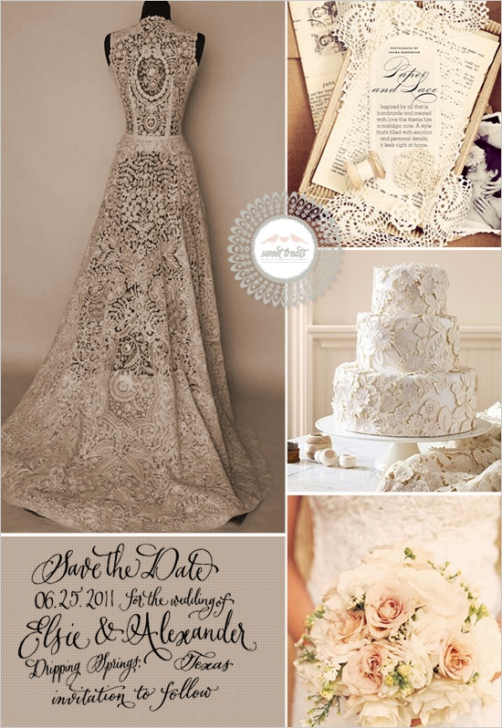 in love with the wedding dress..
