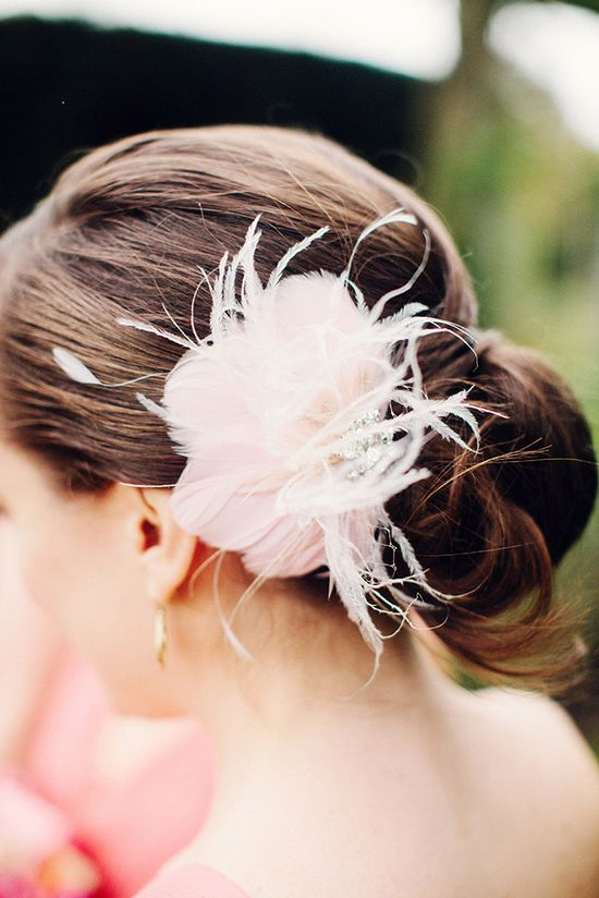 Pink Feather Hair Clip