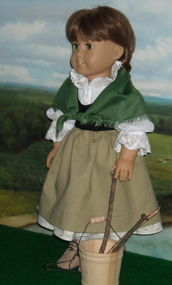 Irish Country Skirt and Vest for 18 inch Dolls via Etsy.