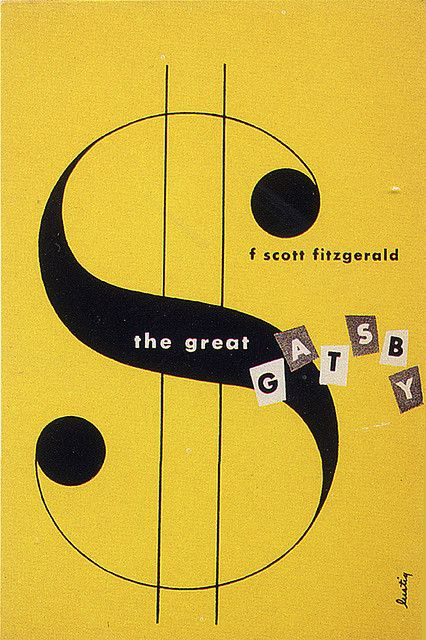 favorite book                                                                                                            Alvin Lustig, The Great Gatsby, cover, 1945             by        Gatochy      on        Flickr