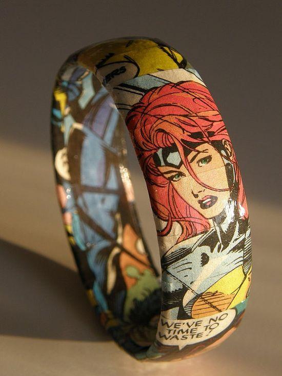 Xmen Comic Book Bracelet by GraphicNovelties on Etsy, $15.00