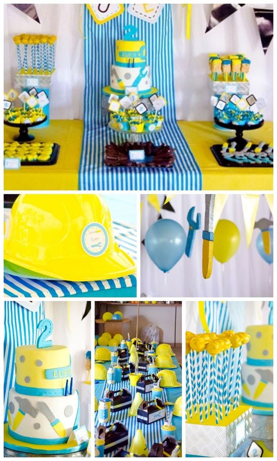 Great party ideas for a construction birthday party, perfect for a boy birthday! See more party ideas at CatchMyParty.com! #construction #birthdayparty