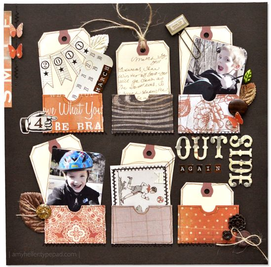 great use of tags #scrapbooking