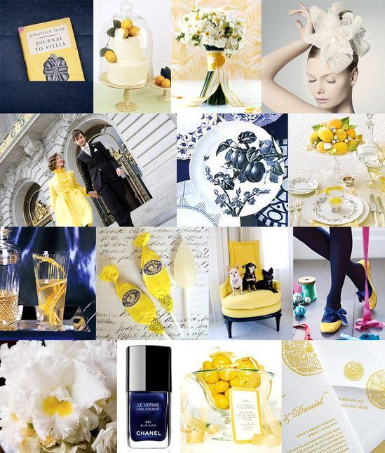 Navy & Yellow Wedding