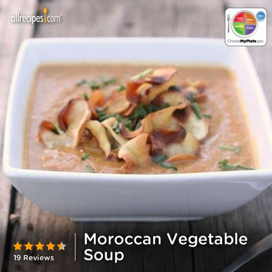 Moroccan Vegetable Soup from Allrecipes.com #myplate #veggies