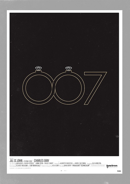 'Diamonds Are Forever' minimalist movie poster
