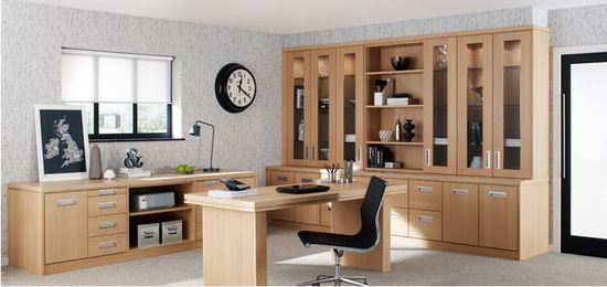 Stunning home office design.