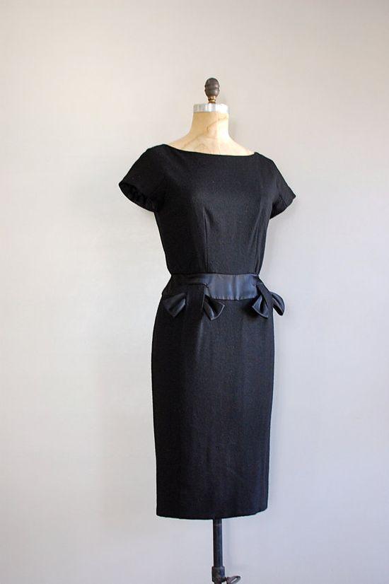 vintage 1950s wool dress