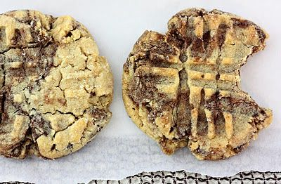 Peanut butter nutella cookies. Must try.