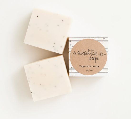 Mint & Poppy Soap  Handmade Cold Processed by seventhtreesoaps, $8.00