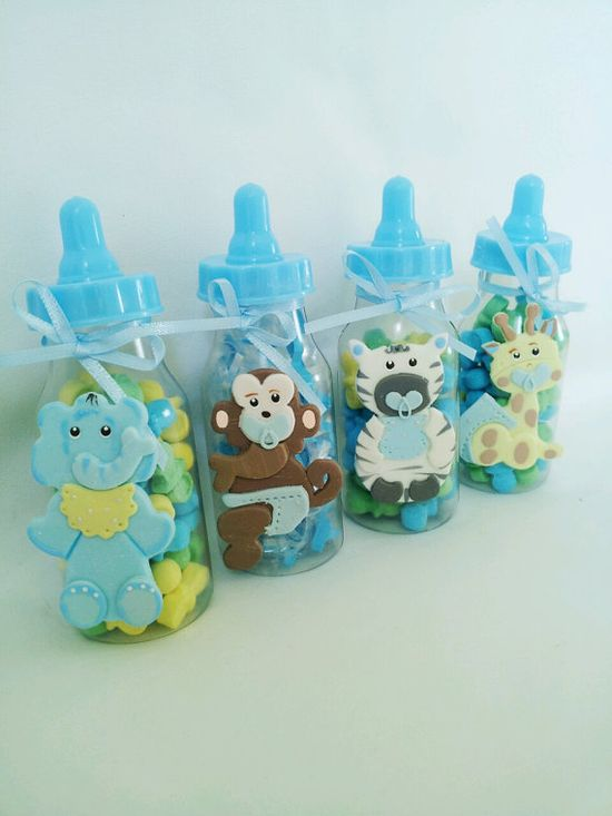 JUNGLE SAFARI party favor. Baby bottle party favor. Baby girl party favor. Baby