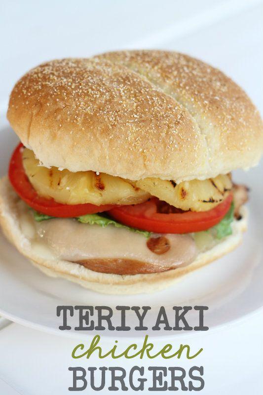 Teriyaki Chicken Burgers. LOVE this recipe on { lilluna.com } #teriyaki