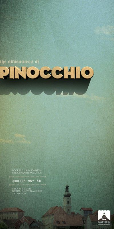 love that wooden type for pinocchio; it's so fitting.