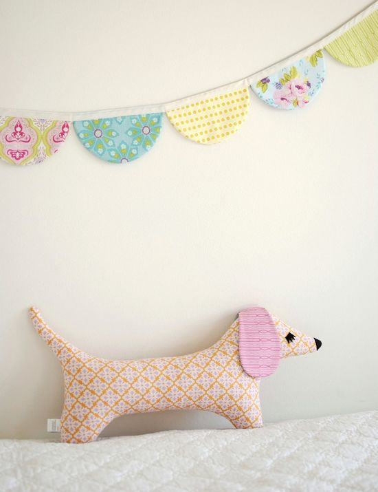 Doxie Stuffed Animal Sewing Pattern Tutorial - PDF Sewing Pattern Milo and Moxie Dachshund Softies