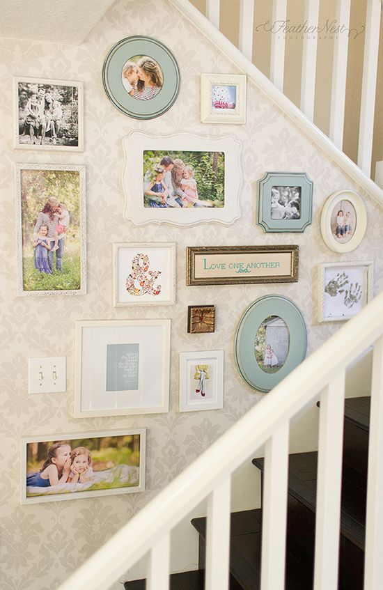 Decorating with Pictures at Feather Nest Photography...colors for kitchen gallery wall