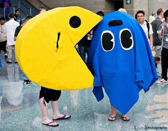 Pacman cosplay.