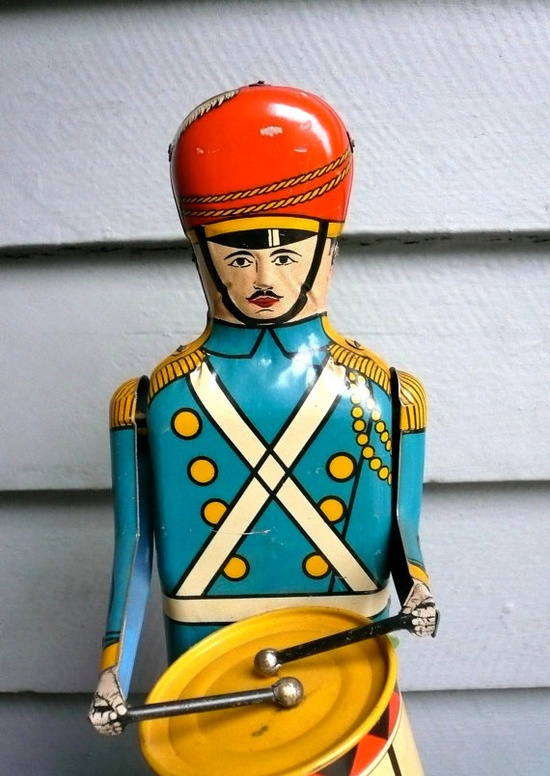 1950's Drum Major wind up toy on etsy