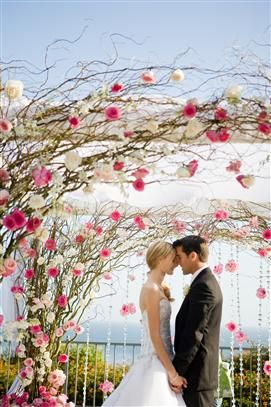 Ideas for outdoor wedding ceremony with beautiful flower arch  #wedding