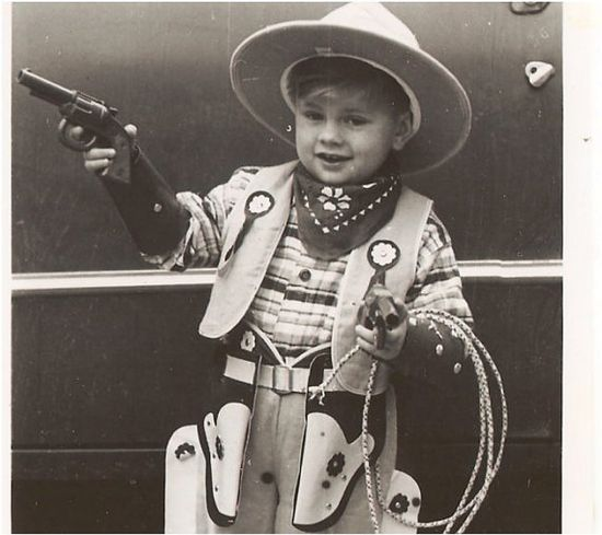 Vintage ANTIQUE PHOTO  Little Retro Cowboy in by vintagewarehouse, $3.50