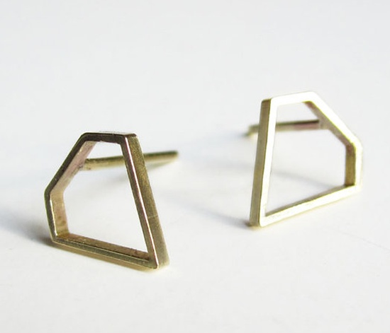 Diamond Shaped Earrings  by Sew A Song