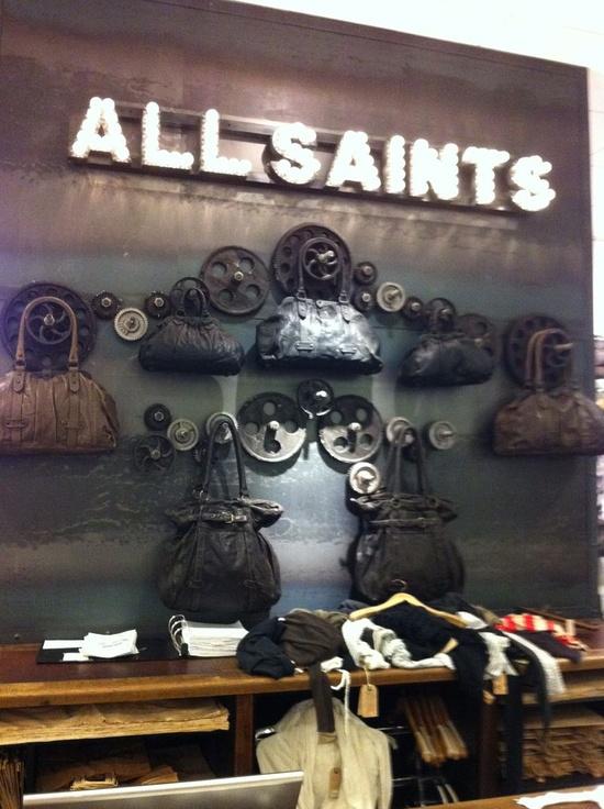 A way to display handbags - unique retail space