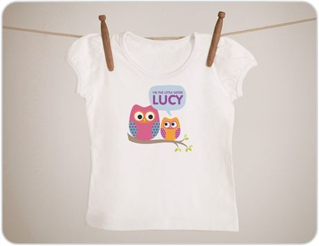 Buy Personalised Little Sister Owl Baby Clothing Online