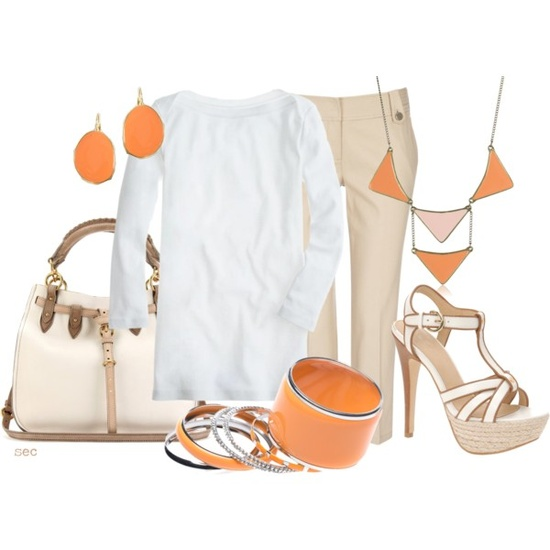 using orange as an accent!  love! #orange