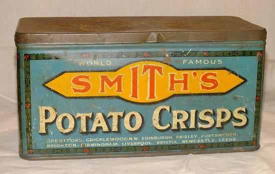 Smith's Potato Crisps Tin 1930s by Cold War Warrior, via Flickr