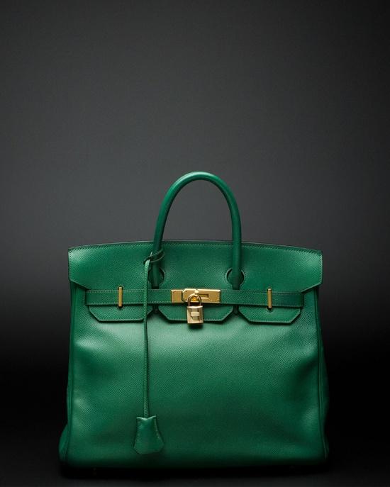 Hermes Birkin green