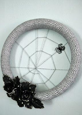 Halloween Spiderweb Wreath