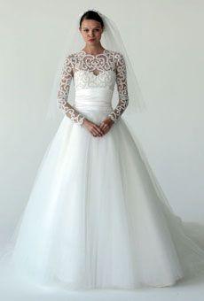 Romantic winter wedding dress; Style B60841 by Marchesa