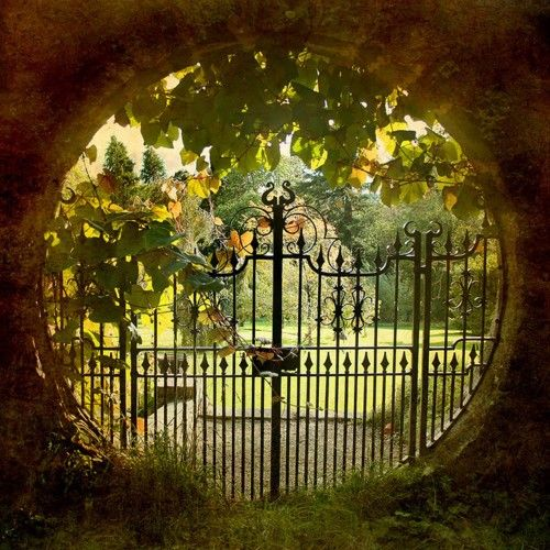 Welcome to my garden! Moon gate  By *c h r i s*