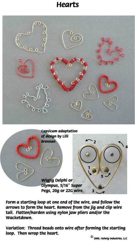 Making Wire Hearts - How to make wire hearts using a jig