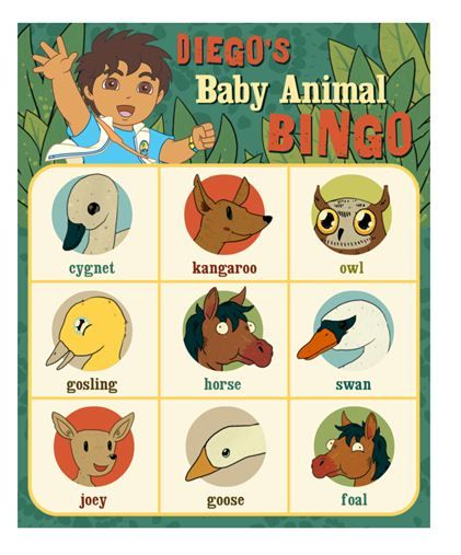 Kids will love learning about baby animals in this fun game of Bingo.