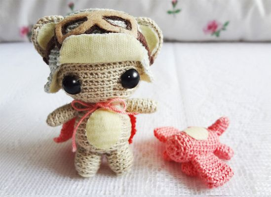 Amigurumi Pattern - Aviator Monkey - $