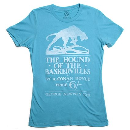 The Hound of the Baskervilles book cover t-shirt